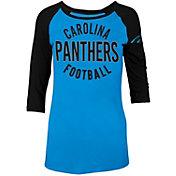 5th & Ocean Women's Carolina Panthers Blue Raglan Shirt