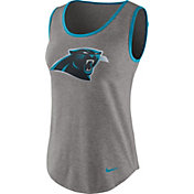 Nike Women's Carolina Panthers Standard Grey Tank Top