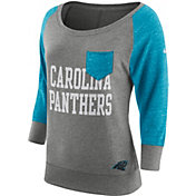 Nike Women's Carolina Panthers Tailgate Vintage Crew Grey Long Sleeve Shirt