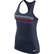 Nike Women's New England Patriots Dri-FIT Touch Performance Navy Tank Top