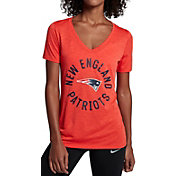 Nike Women's New England Patriots Dri-FIT Touch Red Performance T-Shirt
