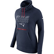 Nike Women's New England Patriots Navy Funnel Neck Pullover