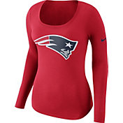 Nike Women's New England Patriots Logo Red Long Sleeve Shirt