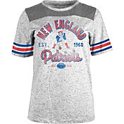 5th & Ocean Women's New England Patriots Peppercorn Throwback Grey T-Shirt