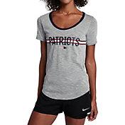 Nike Women's New England Patriots Strike Slub Grey T-Shirt