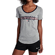 Nike Women's New England Patriots Strike Slub Grey T-Shirt