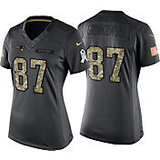 Nike Women's Home Game Jersey New England Patriots Rob Gronkowski #87 Salute to Service 2016