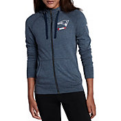 Nike Women's New England Patriots Gym Vintage Full-Zip Navy Hoodie
