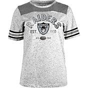 5th & Ocean Women's Oakland Raiders Peppercorn Throwback Grey T-Shirt