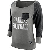 Nike Women's Oakland Raiders Tailgate Vintage Crew Grey Long Sleeve Shirt