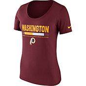 Nike Women's Washington Redskins Team Scoop Red T-Shirt