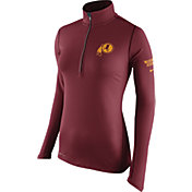 Nike Women's Washington Redskins Tailgate Element Quarter-Zip Red Pullover