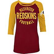 5th & Ocean Women's Washington Redskins Red Raglan Shirt