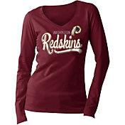 5th & Ocean Women's Washington Redskins Long Sleeve Red Shirt
