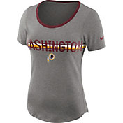 Nike Women's Washington Redskins Strike Slub Grey T-Shirt