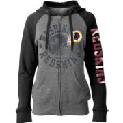5th & Ocean Women's Washington Redskins Tri-Blend Fleece Grey Full-Zip Hoodie