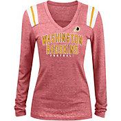5th & Ocean Women's Washington Redskins Tri-Blend Red Long Sleeve Shirt