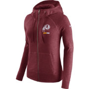 Nike Women's Washington Redskins Gym Vintage Full-Zip Red Hoodie
