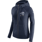 Nike Women's Los Angeles Rams Gym Vintage Full-Zip Navy Hoodie