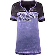 5th & Ocean Women's Baltimore Ravens Burnout Purple T-Shirt