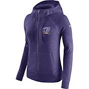 Nike Women's Baltimore Ravens Gym Vintage Full-Zip Purple Hoodie