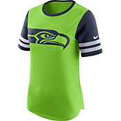 Nike Women's Seattle Seahawks Modern Fan Green Short-Sleeve Top