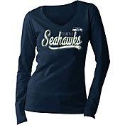 5th & Ocean Women's Seattle Seahawks Long Sleeve Navy Shirt