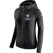 Nike Women's New Orleans Saints Gym Vintage Full-Zip Black Hoodie
