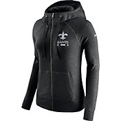 Nike Women's New Orleans Saints Gym Vintage Full-Zip Black Hoodie