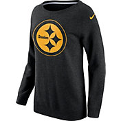 Nike Women's Pittsburgh Steelers Championship Drive 2016 Black BF Crew Sweatshirt