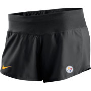 Nike Women's Pittsburgh Steelers Gear Up Crew Black Shorts