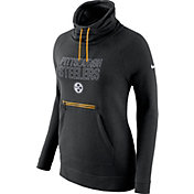 Nike Women's Pittsburgh Steelers Black Funnel Neck Pullover