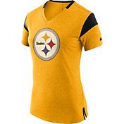 Nike Women's Pittsburgh Steelers Fan V Gold T-Shirt