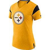 Nike Women's Pittsburgh Steelers Fan V Gold T-Shirt