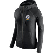 Nike Women's Pittsburgh Steelers Gym Vintage Full-Zip Black Hoodie
