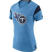 Nike Women's Tennessee Titans Fan V Navy T-Shirt