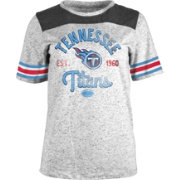 5th & Ocean Women's Tennessee Titans Peppercorn Throwback Grey T-Shirt