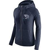 Nike Women's Tennessee Titans Gym Vintage Full-Zip Navy Hoodie