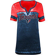 5th & Ocean Women's Houston Texans Burnout Navy T-Shirt