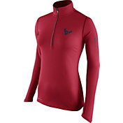 Nike Women's Houston Texans Tailgate Element Quarter-Zip Red Pullover