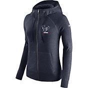 Nike Women's Houston Texans Gym Vintage Full-Zip Navy Hoodie