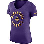 Nike Women's Minnesota Vikings Dri-FIT Touch Purple Performance T-Shirt