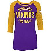 5th & Ocean Women's Minnesota Vikings Purple Raglan Shirt