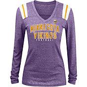 5th & Ocean Women's Minnesota Vikings Tri-Blend Purple Long Sleeve Shirt