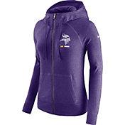 Nike Women's Minnesota Vikings Gym Vintage Full-Zip Purple Hoodie