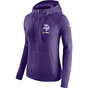 Nike Women's Minnesota Vikings Gym Vintage Full-Zip Purple Hoodie