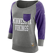 Nike Women's Minnesota Vikings Tailgate Vintage Crew Grey Long Sleeve Shirt