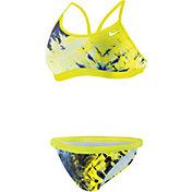 Nike Women's Fractured Tie-Dye Adjustable 2-Piece Swimsuit