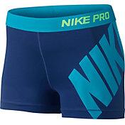 Nike Women's 3'' Pro Logo Compression Shorts