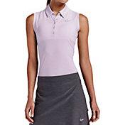 Nike Women's Precision Heather Sleeveless Golf Polo